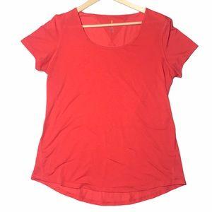 Lucy Breathable Orange Athletic Short Sleeve Tee